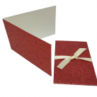 Glitter Bright Red Scratch Card Wallet Kit